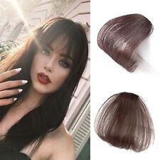 Lady Natural Thin Neat Air Human Hair Extensions In Front Curly Fringe Hair Bang