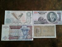 WORLD PAPER MONEY 1947-A *ARGENTINA 50 CENTAVOS* + 3 *BANK NOTES* Collectibles