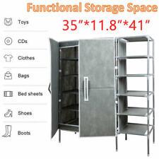 Home Shoe Rack 5 Tier Shelf Storage Closet Organizer Cabinet Portable With Cover