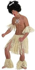 Mens Zulu Warrior Hawaiian Hula Party Stag Do Night Fancy Dress Costume Outfit