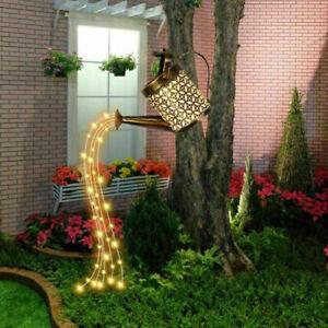 LED Watering Can String Light Solar Powered Outdoor-Garden Art Lamp Decor 2021