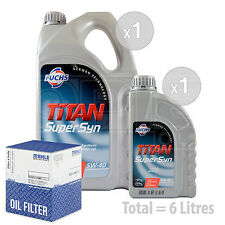 Engine Oil and Filter Service Kit 6 LITRES Fuchs TITAN SUPERSYN 5W-40 6L