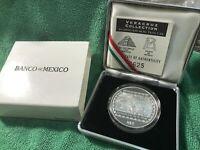 Mexico Nuevos 5 Pesos 1993  Bajorrelieve de el Tajin 1 oz Silver  PROOF A1775