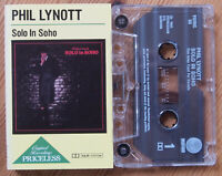 PHIL LYNOTT - SOLO IN SOHO (PRIMC 88) UK REISSUE CASSETTE TAPE THIN LIZZY EX!!