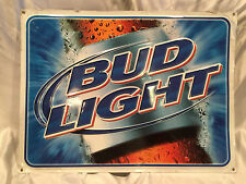 Collectible 2002 Pre-owned Bud Light Beer Metal Tin Bar/Mancave sign Budweiser