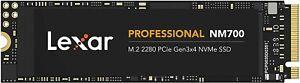 256GB - Lexar Professional NM700 M.2 2280 PCIe Gen3x4 NVMe SSD Up To 3500MB/s