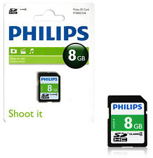 GENUINE PHILIPS 8GB SD SDHC HD MEMORY CARD CLASS 4 DIGITAL CAMERAS VIDEO PHONE
