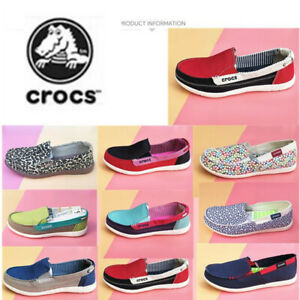 Crocs Breathable Casual Shoes   Women Cloth Shoes Canvas Lightweight Outdoor
