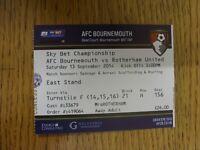 13/09/2014 Ticket: Bournemouth v Rotherham United [Blue Ticket] . Thanks for vie