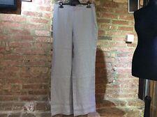 John Lewis Capsule Collection wide leg 100% linen trousers ZINC Grey UK 12