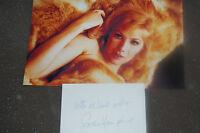 SUSAN HAMPSHIRE SIGNED WHITE CARD  PLUS 12X8 PHOTO