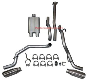 05-12 Toyota Tacoma 4.0 Catback Dual Exhaust Side Exit w/ Full Boar Two Chamber
