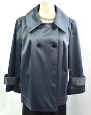 Alfani button crop Jacket Blazer swing suit coat grey sheen shimmer Size XL NEW