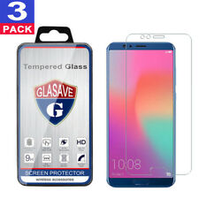 (3 Pack) GLASAVE Huawei Honor view 10 HD Clear Tempered Glass Screen Protector