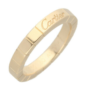 Cartier ring K18 gold Lanieres ring 50 US size 5.5 Auth #080611