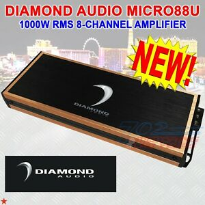 DIAMOND AUDIO® MICRO88U 1000W RMS MICRO8U-SERIES 8-CHANNEL DIGITAL CLASS-D AMP