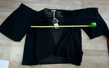 Refb243)bnwt £25 black size 12 sheer lace open cover up jacket