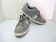Men's PENGUIN Casual Thaw Canvas Shoes Sneakers Gray & Blue - Size 10 1/2