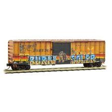 N Scale - MICRO-TRAINS Line 025 44 015 Weathered RAILBOX 50' Box Car w/Graffiti