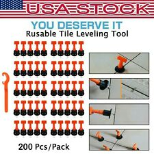 200 Pcs/Pack Reusable Anti-Lippage Tile Leveling System Positioning T-lock Tool