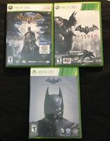 Batman Arkham Asylum, City, & Origins Bundle Lot! Complete! (Xbox 360)