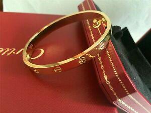 Cartier Love Bangle Bracelet in 18k Yellow Gold size 17 Screwdriver/BOX