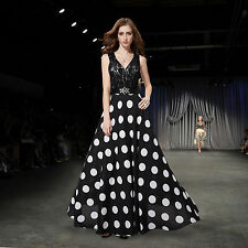 Polka Dot Hand-wash Only Maxi Dresses for Women