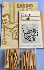 New listing Chair Caning pegs, 2 boxes vintage wooden pegs, 2 instruction booklets