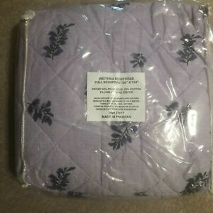 "Wisteria Floral Flowers Lavender Purple Full Bedspread 100""x114"" NEW 87077"