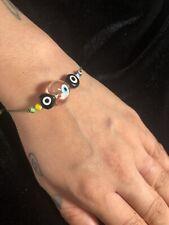 Good Luck Charm Third Eye Evil Eye Heart Bracelet Bead