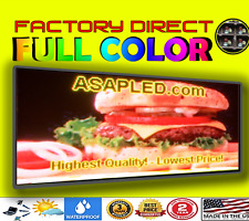 """LED Sign Outdoor RGB, Full Color- 10mm One Sided Digital Sign 19"""" X 51"""" -USA"""
