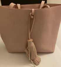 Merona Women's Pink Tote Bag & Pouch RN 17730 (18x12) Used