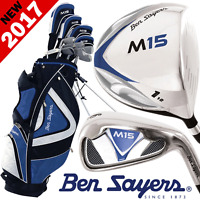 """""""NEW 2017"""" BEN SAYERS M15 MENS COMPLETE GOLF SET IRONS WOODS PUTTER & STAND BAG"""