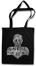 CELTIC THOR´S HAMMER HIPSTER TOTE BAG Midgard TV Odin Vikings Stofftasche Tasche