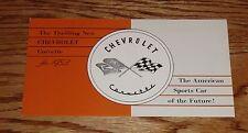 1953 Chevrolet Corvette Foldout Sales Brochure 53 Chevy