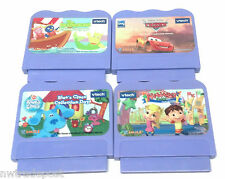 VTech V-Smile 4x Game Lot Alphabet Park Backyardians Blue's Clues Cars Rev it Up