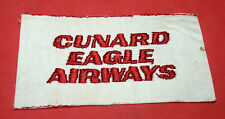 CUNARD EAGLE AIRWAYS Vintage Airlines Patch Badge Employee