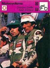 FICHE CARD:Georges Godier Alain Genoud France Motorcycle Racer MOTORCYCLING1970s