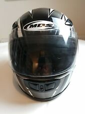 MDS MOTORCYCLE HELMET FULL FACE BLACK SIZE LARGE FAST FREE SHIPMENT