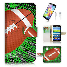 ( For Samsung S5 ) Wallet Case Cover PB10812 Rugby