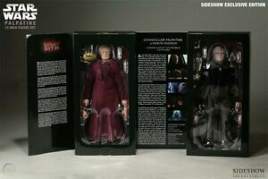 """Sideshow 12"""" Darth Sidious / Palpatine 2 pack - Exclusive 1:6"""
