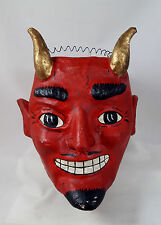 Large RED DEVIL Candy Bucket Halloween Figurine Display New Satanic Design