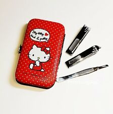 New 5pcs Cute Red Hello Kitty Makeup Cosmetic Nail Manicure Set Kit