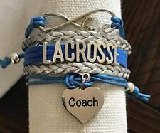 Lacrosse Coach Bracelet- Lacrosse Jewelry - Perfect Thank You Gift For Coaches