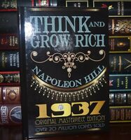 Think and Grow Rich 1937 Original Masterpiece by Napoleon Hill Deluxe Hardcover