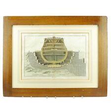 18th Century Antique Framed Marine Engraving 1786