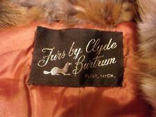 VINTAGE Women's Rabbit Fur Coat By Clyde Burtrum Furs - multicolor - M
