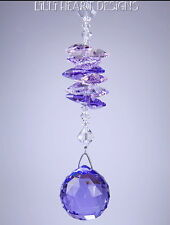 "m/w Swarovski Crystal ""Purple Haze"" BV 30mm Ball Sun Catcher Lilli Heart Designs"