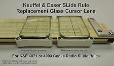 Replacement K&E SLide Rule Cursor Lens for 4070/4071 or 4139 Cooke Radio ( 9L )