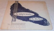 Rare 1952 Vintage The Roosevelt Blue Room Photo Holder New Orleans La.
